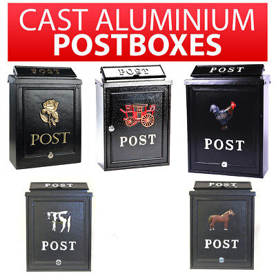 Post Box Wall Mounted Lockable Letterbox Postbox Mailbox Vintage Victorian Style