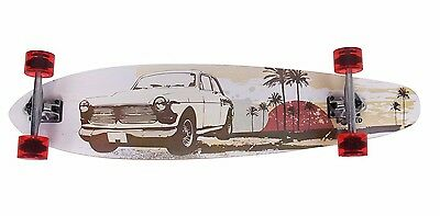 "Excellent Professional 41"" X 9-1/2"" Complete Kicktail Longboard Skateboard -D257"