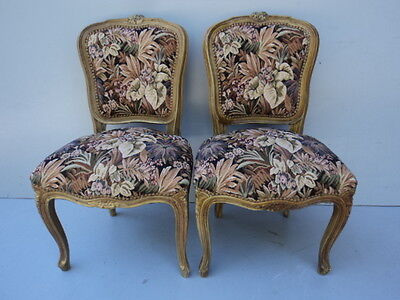 Nice Pair of Antique French Louis XV Chairs - 8208