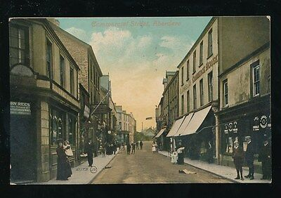 Wales Glam Glamorgan ABERDARE Commercial St Used 1911 PPC by Valentine