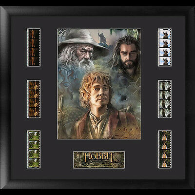 FILM CELLS The Hobbit An Unexpected Journey Montage Framed Display NEW