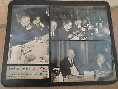 3 x RARE Old Photographs 1948 Bulwell Forest Golf Club Dinner