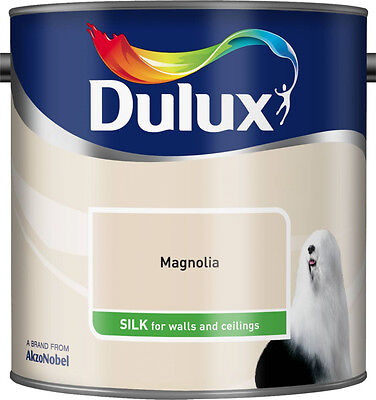 Dulux Smooth Creamy Emulsion Silk Paint - Magnolia - 2.5L -Walls and Ceiling
