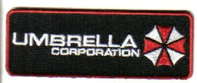 Resident Evil Umbrella Corporation Chest Logo Embroidered Patch, NEW UNUSED