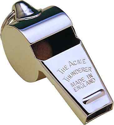 Acme Acme Thunderer Whistle Large Sturdy Nickel Plated Brass England Made New