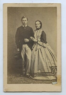 C1870 Cdv Edward Prince Of Wales & Alexandra Princess Of Wales V80
