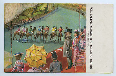 C1905 L Npu Postcard Horse Racing Ascot Edward V11 Gp Govt Tea R41