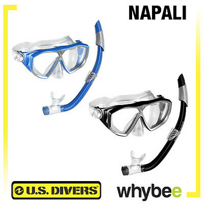 Us Divers Napali Adult Snorkel Combo Mask And Snorkel Snorkeling Set - New!