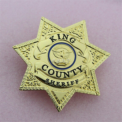 The Walking Dead Uniform Star Badge Rick Grimes King County Sheriff Grimes Badge