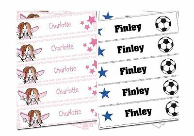Personalised Iron On School Uniform Clothes Name Label Tag Childrens Boys Girl