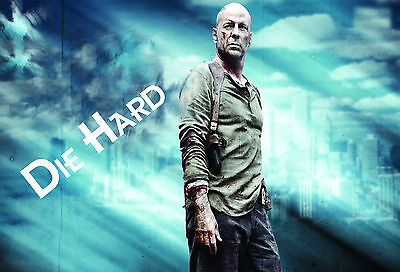 hollywood Die Hard 1 Action Movie Posters Wall chart A3 size film- cinema