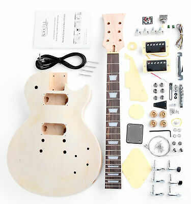 Chitarra Elettrica Kit Diy Fai Da Te Single Cut L-Style Set Do It Yourself Diy
