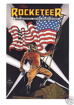 Dave Stevens The Rocketeer Movie Adaptation Comic Promotional Card 1991 Disney