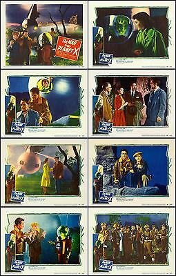 THE MAN FROM PLANET X COMPLETE SET OF 8  DIFFERENT SCI-FI  11x14 LC PRINTS 1951