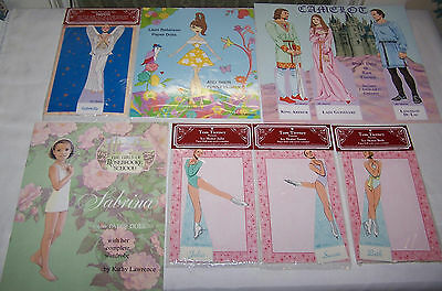Shackman Paper Doll Lot 14 Dolls, 68 Outfits! Tom Tierney Kathy Lawrence + More!