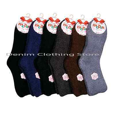 6~60pair WOMEN MEN DARK PLAIN COZY FUZZY SOFT WINTER SLIPPER SOCKS WHOLESALE LOT