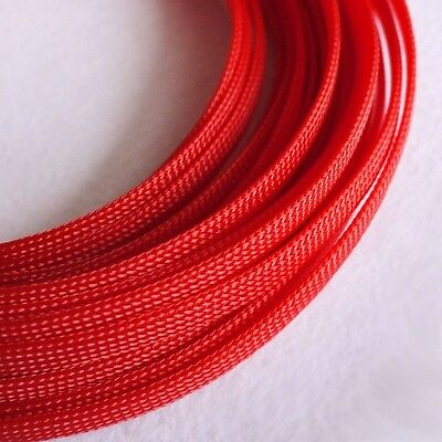 Sleeving Cable 5 Meters X 8MM Red Tube PET Expandable Braided Tubing Cable