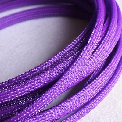 Sleeving Cable 5 Meters X 8MM Purple Tube PET Expandable Braided Heat Shrink