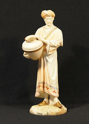 Antique Royal Worcester Cairo Water Carrier Figurine Rd 84463 Puce Back Mark