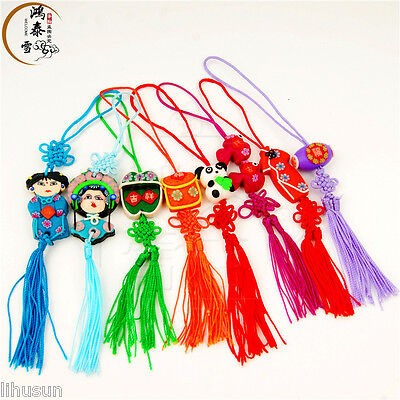 Wholesale30pcs Handmade Classic Various Shape With Tassel Phone &Handbag Charm
