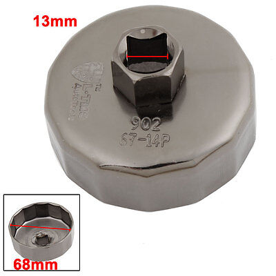 Car 13mm Drive 68mm 14 Flutes Oil Filter Cap Wrench Socket Cup for BMW