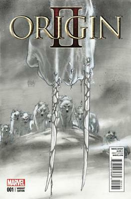 Origin II #1 1:100 Sketch Variant Cover by Adam Kubert.