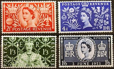 Great Britain 1953 Coronation Complete Set MNH SG 532-35 - EXCELLENT!
