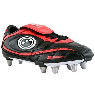 New Top Quality Inferno II Foot Wear Rugby Boot In Black & Red Colour Shoes