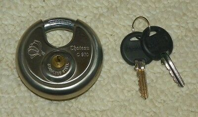 Chateau C970 - Heavy Duty Stainless Steel Round Disc Lock