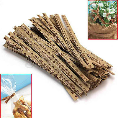 100 Pcs Gift Wrapping Especially For You Twist Ties For Bakery Cookie Candy Bag