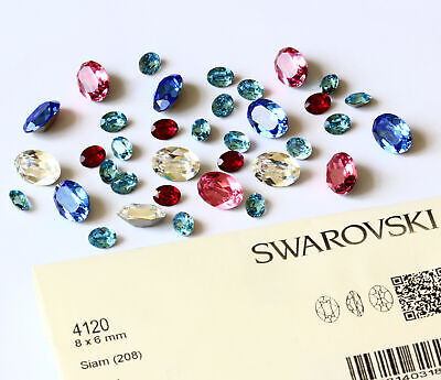 Genuine SWAROVSKI 4120 Oval Crystals Fancy Stones * Many Sizes & Colors