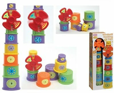Fun Time Wind Mill Stacking Cups Kids Baby Boy Girls Children Toy 12 Months+ New