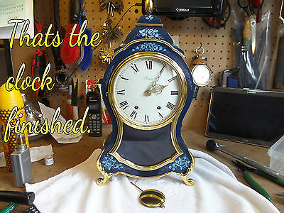 Restored Vintage   Louis Xvi Eluxa Mantel/wall Clock     91 Photo Record Of Work