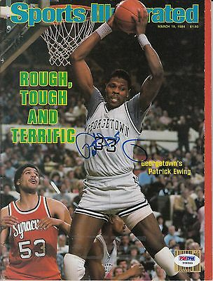 Patrick Ewing Sports Illustrated Autograph Auto Psa Dna Certified Authentic