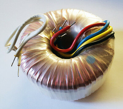 Power Toroidal Transformer, 110VAC to  2 x 24VAC at 3 Amps (28E107)