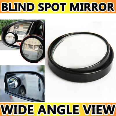 Black Car Adjustable Wide Angle Rear View Blind Spot Convex Mirror 80mm