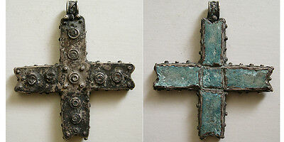 PCW-AN174-BYZANTINE Silver Cross. Ca. 8th-10th Century AD. Very Rare.