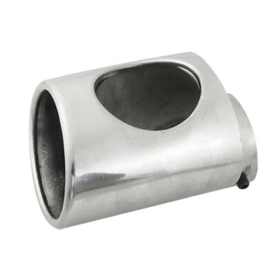 Universal Car Slant Cut Rolled Angled Exhaust Pipe Tip