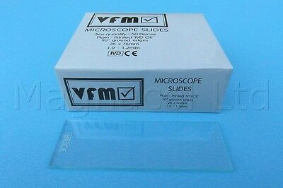 Microscope Slides: Plain  (Pack of 100, clear)