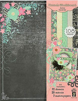 CHALKBOARD Artful Card Making Kit Paper Crafting HOT OFF THE PRESS 7282 New