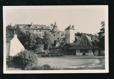 Wales Pembrokeshire Pembs CALDEY The Monastery used c1950s RP PPC