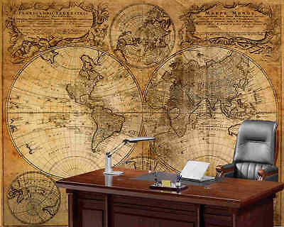 Old Map 1746-Wall Mural-10.5'wide by 8'high