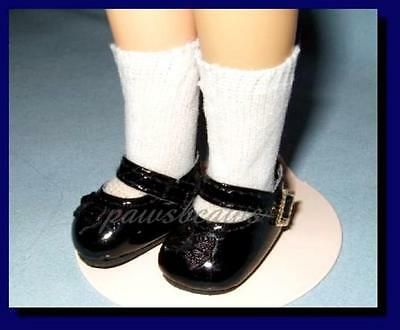 """BLACK Patent Mary Jane SHOES fit Ideal 12"""" Vinyl SHIRLEY TEMPLE Doll"""