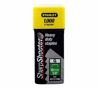 10mm (3/8'') Stanley Sharp Shooter Heavy Duty Staples 1000pc 1-TRA706T 4/11/140