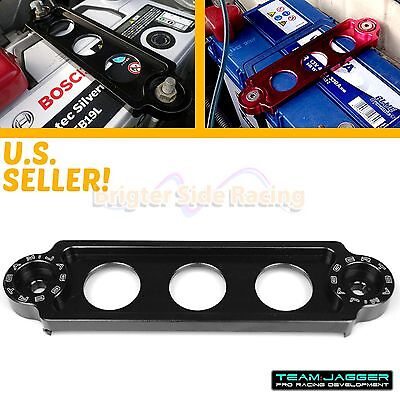 Made To Fit 88-10 Civic Crx Jdm Battery Tie Down Bracket Aluminum Anodized Black
