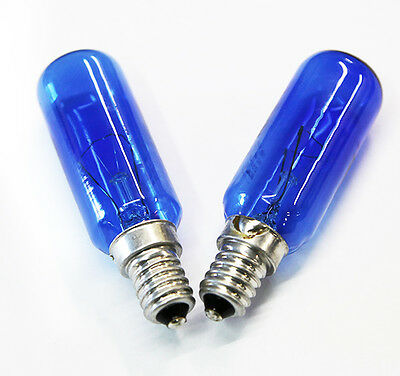 2 x FRIDGE BLUE LAMP LIGHT BULB GLOBE 40W  E14 SES 1443629 WESTINGHOUSE