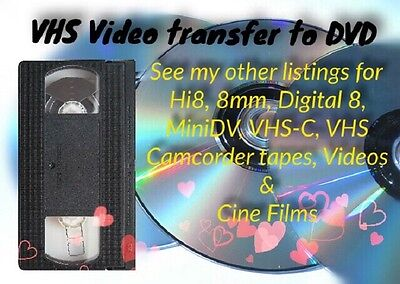 VHS To DVD or Digital Media TRANSFER SERVICE Professional and Reliable