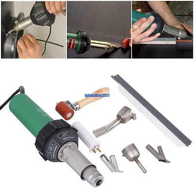 1500w Hot Air Plastic Welding Gun Welder Pistol+ Roller Tool + Speed Nozzle