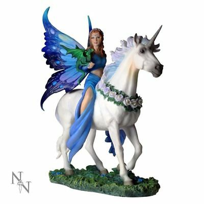"*NEW* Anne Stokes ""Realm of Enchantment"" Figurine Statue Unicorn Dragon Fantasy"