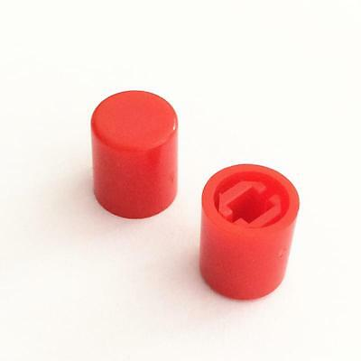 50pcs Round Switch Cap For A03 Switches Pushbutton  Brimless Red